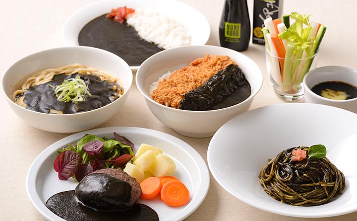 のりクロ黒カレー_料理