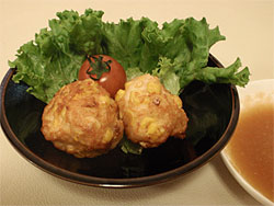 鶏とコーンのつくね(しょうがすこレシピ)